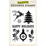 Echo Park - Christmas - Clear Acrylic Stamps - Happy Holidays