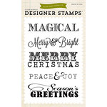 Echo Park - Clear Acrylic Stamps - Christmas Sentiments