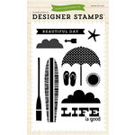 Echo Park - Walking On Sunshine Collection - Clear Acrylic Stamps - Beach Day