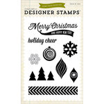 Echo Park - Home for the Holidays Collection - Christmas - Clear Acrylic Stamps - Holiday Cheer
