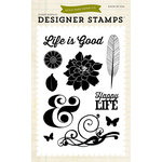 Echo Park - Everyday Collection - Designer Stamps - Life is Good
