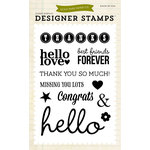 Echo Park - Everyday Collection - Designer Stamps - Sentiments