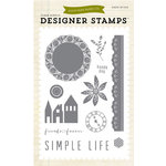 Echo Park - Simple Life Collection - Clear Acrylic Stamps