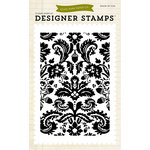 Echo Park - Fall - Clear Acrylic Stamps - Acorn Damask