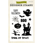 Echo Park - Fall - Halloween - Clear Acrylic Stamps - Boo