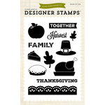 Echo Park - Fall - Clear Acrylic Stamps - Thanksgiving