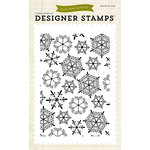 Echo Park - Christmas - Clear Acrylic Stamps - Snowflakes 1