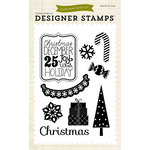 Echo Park - Christmas - Clear Acrylic Stamps - Christmas Joy