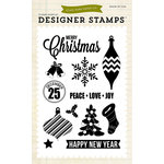 Echo Park - Christmas - Clear Acrylic Stamps - Peace Love Joy