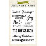 Echo Park - Christmas - Clear Acrylic Stamps - Christmas Sentiments