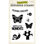 Echo Park - Fine and Dandy Collection - Clear Acrylic Stamps - Happy Little Moments