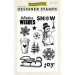 Echo Park - Winter - Clear Acrylic Stamps - Joyful Winter