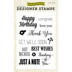 Echo Park - Sentiments - Clear Acrylic Stamps - Sentiments 2