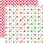 Echo Park - Fine and Dandy Collection - 12 x 12 Double Sided Paper - Fresh Flowers