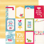 Echo Park - Fine and Dandy Collection - 12 x 12 Double Sided Paper - 3 x 4 Journaling Cards
