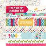 Echo Park - Fine and Dandy Collection - 12 x 12 Double Sided Paper - Border Strips