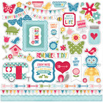Echo Park - Fine and Dandy Collection - 12 x 12 Cardstock Stickers - Elements