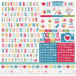 Echo Park - Fine and Dandy Collection - 12 x 12 Cardstock Stickers - Alphabet