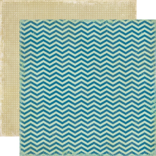 Echo Park - For the Record 2 Collection - Documented - 12 x 12 Double Sided Paper - Chevrons