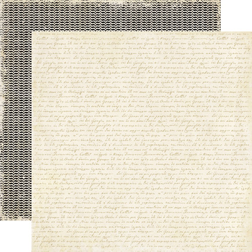 Echo Park - For the Record 2 Collection - Tailored - 12 x 12 Double Sided Paper - Handwritten