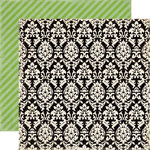 Echo Park - For the Record 2 Collection - Tailored - 12 x 12 Double Sided Paper - Damask
