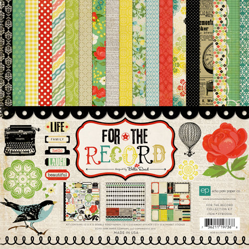 Echo Park - For The Record Collection - 12 x 12 Collection Kit