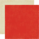 Echo Park - For The Record Collection - 12 x 12 Double Sided Paper - Red and Cream