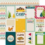 Echo Park - Happy Camper Collection - 12 x 12 Double Sided Paper - 3 x 4 Journaling Cards