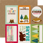 Echo Park - Happy Camper Collection - 12 x 12 Double Sided Paper - 4 x 6 Journaling Cards