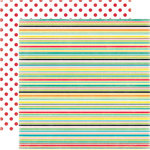 Echo Park - Happy Days Collection - 12 x 12 Double Sided Paper - Stripes