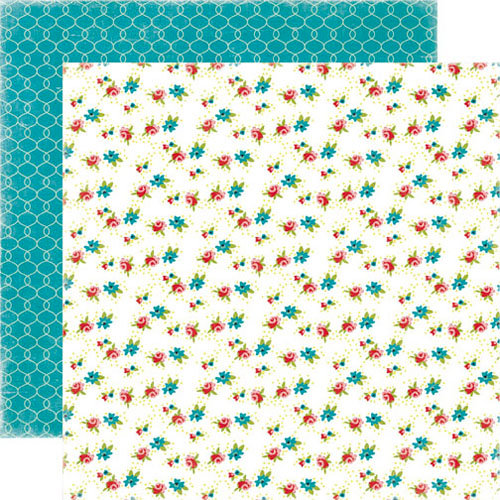 Echo Park - Happy Days Collection - 12 x 12 Double Sided Paper - Little Flowers