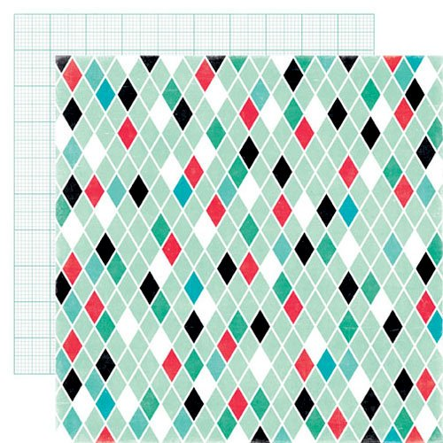 Echo Park - Happy Days Collection - 12 x 12 Double Sided Paper - Diamonds