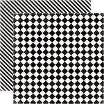 Echo Park - Happy Days Collection - 12 x 12 Double Sided Paper - Checkerboard