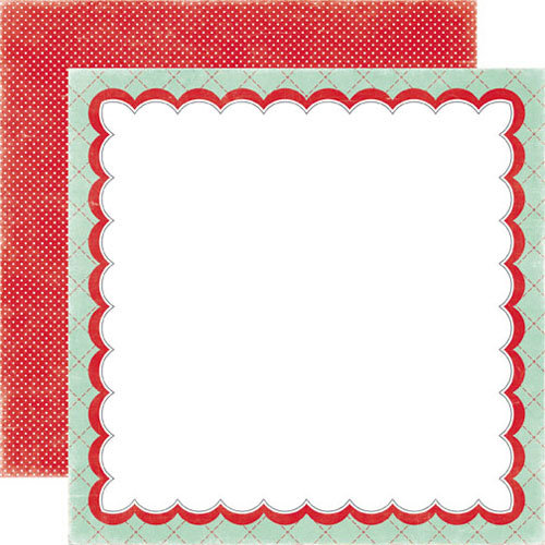 Echo Park - Happy Days Collection - 12 x 12 Double Sided Paper - Scalloped