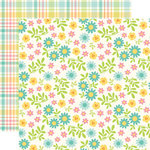 Echo Park - Happy Easter Collection - 12 x 12 Double Sided Paper - Easter Floral