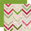 Echo Park - Home for the Holidays Collection - Christmas - 12 x 12 Double Sided Paper - Festive Chevron