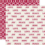 Echo Park - Home for the Holidays Collection - Christmas - 12 x 12 Double Sided Paper - Good Tiding Words