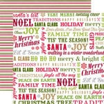 Echo Park - Home for the Holidays Collection - Christmas - 12 x 12 Double Sided Paper - Fa La La La La Words