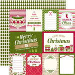 Echo Park - Home for the Holidays Collection - Christmas - 12 x 12 Double Sided Paper - Journaling Cards