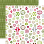 Echo Park - Home for the Holidays Collection - Christmas - 12 x 12 Double Sided Paper - Snowflakes