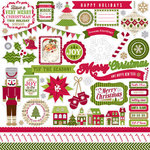 Echo Park - Home for the Holidays Collection - Christmas - 12 x 12 Cardstock Stickers - Element Stickers
