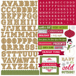 Echo Park - Home for the Holidays Collection - Christmas - 12 x 12 Cardstock Stickers - Alpha Stickers