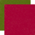 Echo Park - Home for the Holidays Collection - Christmas - 12 x 12 Double Sided Paper - Dark Red