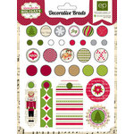 Echo Park - Home for the Holidays Collection - Christmas - Decorative Brads