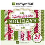 Echo Park - Home for the Holidays Collection - Christmas - 6 x 6 Paper Pad