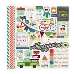 Echo Park - Homegrown Collection - 12 x 12 Cardstock Stickers - Elements
