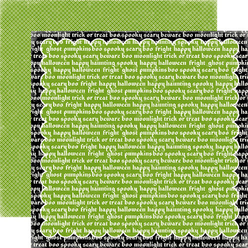 Echo Park - Happy Halloween Collection - 12 x 12 Double Sided Paper - Happy Haunting, CLEARANCE