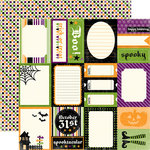 Echo Park - Happy Halloween Collection - 12 x 12 Double Sided Paper - Scary Story Cards, CLEARANCE