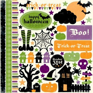 Echo Park - Happy Halloween Collection - 12 x 12 Cardstock Stickers - Elements, CLEARANCE