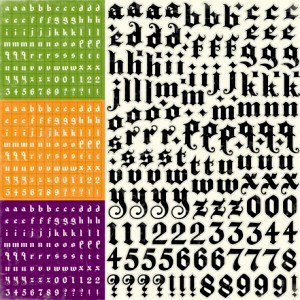 Echo Park - Happy Halloween Collection - 12 x 12 Cardstock Stickers - Alphabet, CLEARANCE